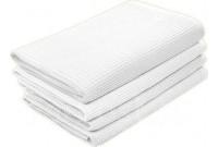 Полотенце вафельное белое 45х80 см