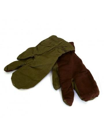 Перчатки (рукавицы) утеплённые трехпалые, хаки
