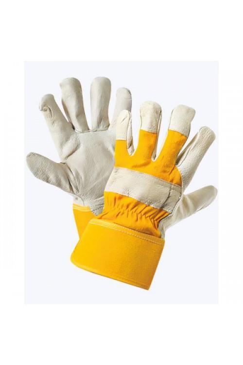 Перчатки кожаные комбинированные утепленные «Юкон»