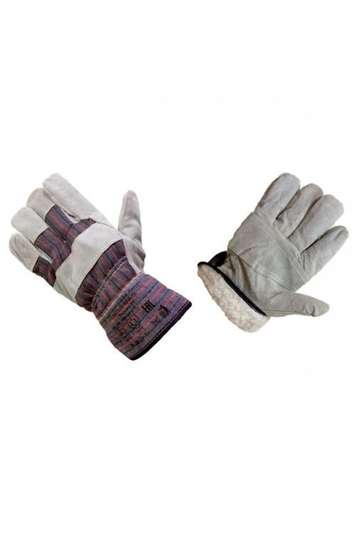 Перчатки спилковые комбинированные утепленныe Ангара